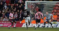 Photo: Alan Crowhurst.<br />Southampton v Milton Keynes Dons. The FA Cup.<br />07/01/2006. <br />Gareth Edds (C) scores for Dons.