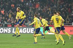 November 17, 2018 - Konya, Türkiye - Sweden's Andreas Granqvist celebrate goal with his team mates during Turkey vs. Sweden UEFA Nations League, League B game at Konya, Turkey, 17th Nov., 2018 (Credit Image: © Hikmet Saatci/Depo Photos via ZUMA Wire)