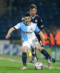 Blackburn Rovers's Craig Conway competes with Bolton Wanderers' Tim Ream - Photo mandatory by-line: Richard Martin-Roberts/JMP - Mobile: 07966 386802 - 11/03/2015 - SPORT - Football - Blackburn - Ewood Park - Blackburn Rovers v Bolton Wanderers - Sky Bet Championship