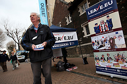 UK ENGLAND LONDON CROYDON 16APR16 - Wiliam John Bailey attends the stall of the Vote Leave campaign on the Croydon high street in south London.<br /> <br /> <br /> <br /> jre/Photo by Jiri Rezac<br /> <br /> <br /> <br /> © Jiri Rezac 2016