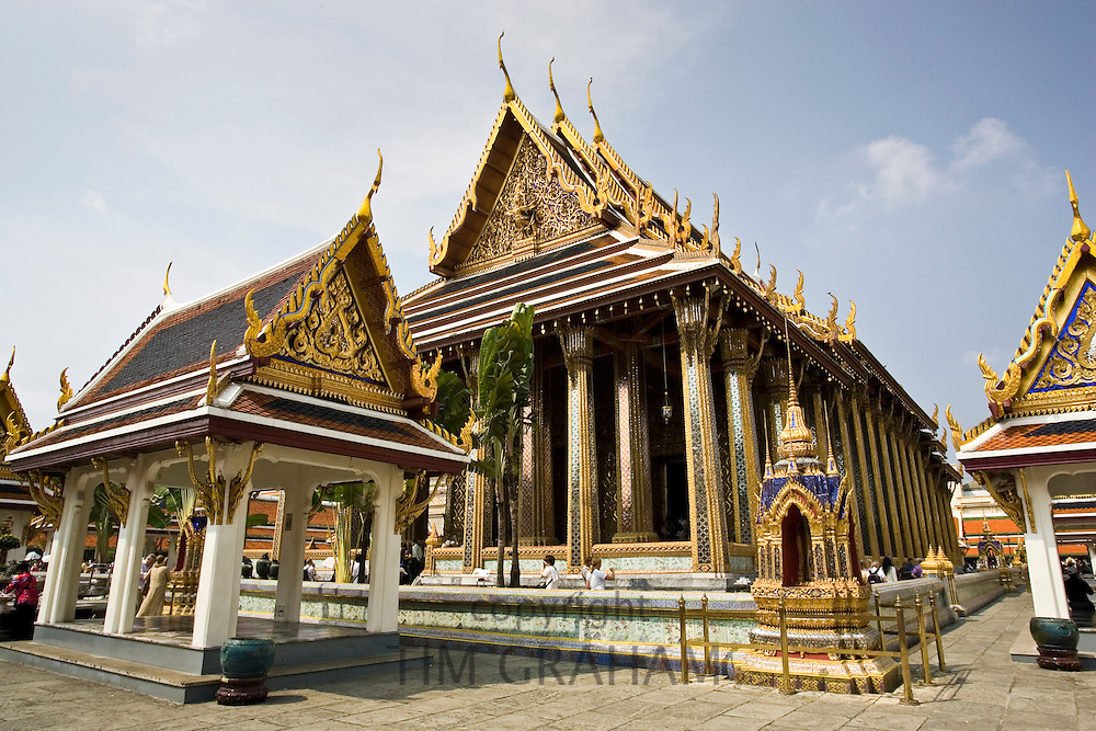 Royal Temple of the Emerald Buddha,Wat Phra Keow and Salarai, Bangkok, Thailand