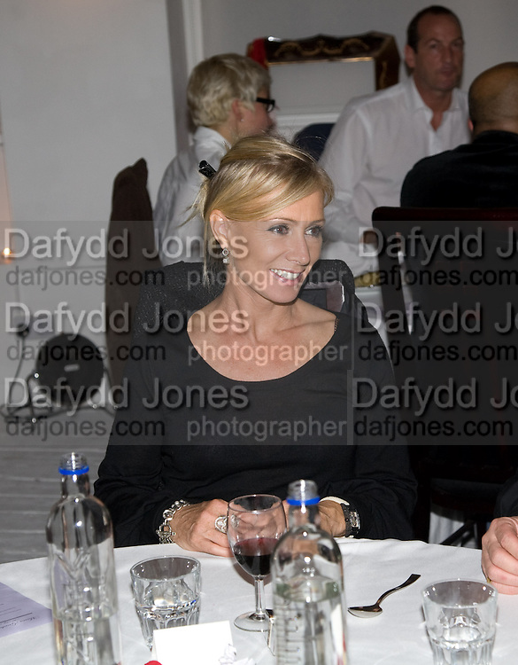 KAREN MILLEN, Maria Grachvogel dinner during London Fashion week. Shoreditch Beach Blanket Babylon. Bethnall Green Rd. London.  15 September 2008 *** Local Caption *** -DO NOT ARCHIVE-© Copyright Photograph by Dafydd Jones. 248 Clapham Rd. London SW9 0PZ. Tel 0207 820 0771. www.dafjones.com.