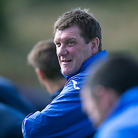 St Johnstone Training...25.09.15<br /> Manager Tommy Wright watches training this morning at McDiarmid Park ahead of tomorrow's game against Dundee United.<br /> Picture by Graeme Hart.<br /> Copyright Perthshire Picture Agency<br /> Tel: 01738 623350  Mobile: 07990 594431