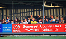 Bristol Rovers supporters at the Viridor Stadium - Mandatory by-line: Paul Knight/JMP - 18/07/2017 - FOOTBALL - Viridor Stadium - Taunton, England - Taunton Town v Bristol Rovers XI - Pre-season friendly