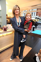 NICOLA FORMBY and her son ISAAC GILL at a party to celebrate the opening of Pincess Marie-Chantal of Greece's store 'Marie-Chantal' 133A Sloane Street, London on 14th October 2008.