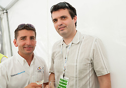 Andrej Filip and Tomaz Pernovsek during Stage 4 from Brezice to Novo mesto (155,8 km) of cycling race 20th Tour de Slovenie 2013,  on June 16, 2013 in Slovenia. (Photo By Vid Ponikvar / Sportida)