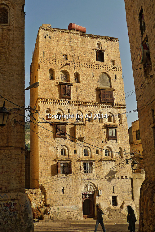 Old Yemeni Tower House in Sanaa.
