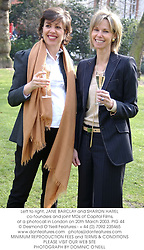 Left to right, JANE BARCLAY and SHARON HAREL co-founders and joint MDs of Capitol Films,  at a photocall in London on 20th March 2003.	PIG 44