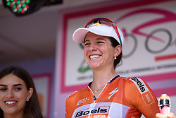 Stage winner, Evelyn Stevens at Giro Rosa 2016 - Stage 6. A 118.6 km road race from Andora to Alassio, Italy on July 7th 2016.