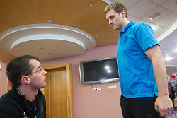 Uros Mohoric and Luka Zvizej at training camp of Slovenian Handball National team before World Cup 2013 in Spain, on December 28, 2012 in Hotel Dobrava, Zrece, Slovenia. (Photo By Vid Ponikvar / Sportida.com)