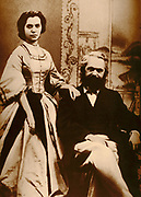 Karl and Janny (daughter) Marx. Karl Heinrich Marx (5 May 1818 – 14 March 1883) was a German philosopher, sociologist, economic historian, journalist, and revolutionary socialist. 1876