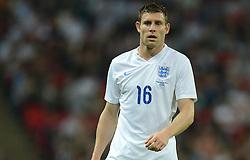 England's James Milner (Manchester City) - Photo mandatory by-line: Alex James/JMP - Mobile: 07966 386802 - 3/09/14 - SPORT - FOOTBALL - London - Wembley Stadium - England v Norway - International Friendly