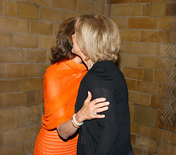 Left to right, HM QUEEN SILVIA OF SWEDEN and PRINCESS ANNI-FRID REUS VON PLAUEN she was Frida from pop group ABBA  at a gala dinner in the presence of HM Quenn Silvia of Sweden and HM Queen Noor of Jordan in aid of the charity Mentor held at the Natural History Museum, Cromwell Road, London on 23rd May 2006.<br />