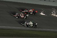 Helio Castroneves, Scott Dixon, Tony Kanaan, Cafes do Brasil Indy 300, Homestead Miami Speedway, Homestead, FL USA1 0/2/2010