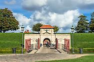 A busy entrance to the fortification in Kastellet in Copenhagen.