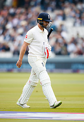 England's Mark Stoneman walks off dejected after being dismissed during day one of the First NatWest Test Series match at Lord's, London.