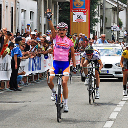 Sportfoto archief 2012<br /> Giro Donne stage 8 Crugnola di Monargo-Lonato Pozzolo - Marianne Vos wins for Judith Arndt and Evelyn Stevens
