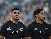 JOHANNESBURG, South Africa, 25 July 2015 : Charles Piutau and Malakai Fekitoa of the All Blacks during the Castle Lager Rugby Championship test match between SOUTH AFRICA and NEW ZEALAND at Emirates Airline Park in Johannesburg, South Africa on 25 July 2015. Bokke 20 - 27 All Blacks<br /> <br /> © Anton de Villiers / SASPA
