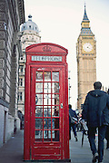 London Telephone Stand and Big Ben