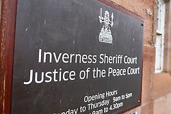 Exterior of Inverness Sheriff Court in Inverness , Scotland, UK
