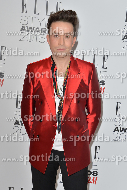 Nick Grimshaw attends the ELLE Style Awards 2015 at the Sky Garden @ The Walkie Talkie Tower in London, England. 24th February 2015. EXPA Pictures &copy; 2015, PhotoCredit: EXPA/ Photoshot/ James Warren<br /> <br /> *****ATTENTION - for AUT, SLO, CRO, SRB, BIH, MAZ only*****
