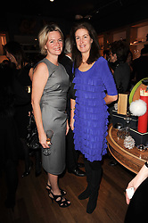 Left to right, LADY BRUCE DUNDAS and LADY HENRIETTA SPENCER-CHURCHILL at a party to celebrate 25 years of the David Linley store , 60 Pimlico Road, London on 16th November 2010.