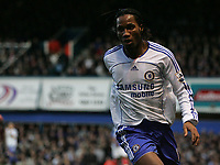 Photo: Lee Earle.<br /> Portsmouth v Chelsea. The Barclays Premiership. 03/03/2007.Chelsea's Didier Drogba turns away to celebrate his opening goal.