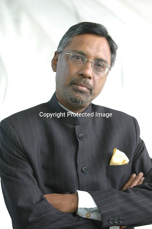 Indian diplomat and writer Pavan Varma at the Edinburgh International Book Festival 2005.<br /> <br /> Copyright Pascal Saez<br /> Pascal Saez / Writer Pictures