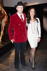 © Licensed to London News Pictures. 04/10/2018. London, UK. Dr Gunther von Hagens and wife Angelina Whalley take part in the launch of Body Worlds exhibition. The German anatomist invented plastination and is known for pioneering work on corpses. Photo credit: Ray Tang/LNP