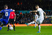 Leeds United midfielder Mateusz Klich (43) takes a shot during the EFL Sky Bet Championship match between Leeds United and Cardiff City at Elland Road, Leeds, England on 14 December 2019.