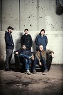 The Scottish band Mogwai photographed at the Glue Factory in Glasgow,Scotland November 16th 2013<br /> Band members Stuart Braithwaite, Dominic Aitchison, Martin Bulloch,John Cummings