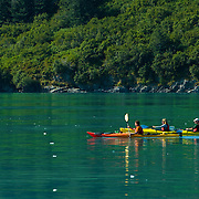 Kayaking in Aialik Bay in Kenai Fjords National Park Alaska