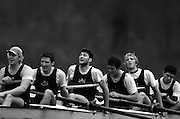 2004_Oxford University Trail Eights, Putney, London:ENGLAND. 14.12.04. Crew list. OUBC [right to left].Williams. and cox Nick Brodie..Cowboys [Surrey]. Andrew Brennan, David Livingstone, Michael Blomquist. Henry Morris, Andy Triggs Hodge.Photo Peter Spurrier.email images@intersport-images.com. ...........[Mandatory Credit Peter Spurrier/ Intersport Images] Varsity:Boat Race, Rowing Course: River Thames, Championship course, Putney to Mortlake 4.25 Miles