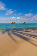 Mokulua Islands, Lanikai Beach, Kailua, Oahu, Hawaii
