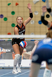 26-10-2019 NED: Talentteam Papendal - Sliedrecht Sport, Ede<br /> Round 4 of Eredivisie volleyball - Fleur Meinders #3 of Talent Team