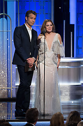 Jan 8, 2017 - Beverly Hills, California, U.S - Presenters TIMOTHY OLYPHANT and DREW BARRYMORE on stage at the 74th Annual Golden Globe Awards at the Beverly Hilton in Beverly Hills, CA on Sunday, January 8, 2017. (Credit Image: ? HFPA/ZUMAPRESS.com)
