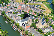 Nederland, Noord-Holland, Gooise Meren, 29-06-2018; Muiden, kleine stad met vestingwerken, onderdeel van de (Nieuwe) Hollandse Waterlinie en de Stelling van Amsterdam. <br /> Muiden, small town with fortifications.<br /> luchtfoto (toeslag op standard tarieven);<br /> aerial photo (additional fee required);<br /> copyright foto/photo Siebe Swart