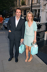 BOBBY HASHEMI and his sister SAHAR HASHEMI founders of Coffee Republic at Tatler Magazine's Summer Party held at the Baglioni Hotel, 60 Hyde Park Gate, London SW7 on 1st July 2004.