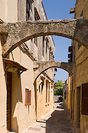 Medieval arches in Rhodes Old Town, Rhodes, Dodecanese Islands, Greece