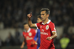 November 5, 2017 - Guimaraes, Guimaraes, Spain - Benfica's Brazilian forward Jonas celebrates after scoring goal during the Premier League 2017/18 match between Vitoria SC and SL Benfica, at Dao Afonso Henriques Stadium in Guimaraes on November 5, 2017. (Credit Image: © Dpi/NurPhoto via ZUMA Press)