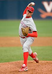 Radford Highlanders pitcher Cassidy McDaniel (28).  The #16 ranked Virginia Cavaliers baseball team defeated the Radford Highlanders 8-2 at the University of Virginia's Davenport Field in Charlottesville, VA on March 11, 2008.