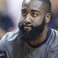17 June 2012: Oklahoma City Thunder guard James Harden (13) warms up prior to Game 3 of the 2012 NBA Finals, Thunder at Heat, at the AmericanAirlinesArena, Miami, Florida, USA.
