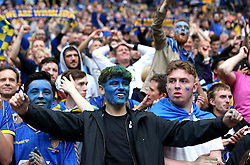 AFC Wimbledon fans celebrate their clubs promotion to League One - Mandatory by-line: Robbie Stephenson/JMP - 30/05/2016 - FOOTBALL - Wembley Stadium - London, England - AFC Wimbledon v Plymouth Argyle - Sky Bet League Two Play-off Final