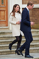 © Licensed to London News Pictures.  19/03/2013. SAUNDERTON, UK. The Duke and Duchess of Cambridge, William (pictured) and Kate (pictured) leave the Clare Centre in Saunderton after visiting the offices of charity Child Bereavement UK. Photo credit :  Cliff Hide/LNP