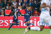 Neymar da Silva Santos Junior - Neymar Jr (PSG) made a backheel, Julian Draxler (PSG) during the French championship L1 football match between Paris Saint-Germain (PSG) and Saint-Etienne (ASSE), on August 25, 2017 at Parc des Princes, Paris, France - Photo Stéphane Allaman / ProSportsImages / DPPI