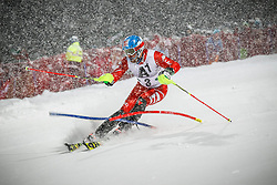 27.01.2015, Planai, Schladming, AUT, FIS Skiweltcup Alpin, Schladming, 1. Lauf, im Bild Stefano Gross (ITA) // Stefano Gross (ITA) during the first run of the men's slalom of Schladming FIS Ski Alpine World Cup at the Planai Course in Schladming, Austria on 2015/01/27, EXPA Pictures © 2015, PhotoCredit: EXPA/ Erwin Scheriau