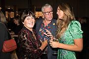 VALERIE GROVE, CELIA WALDEN, Nicholas Coleridge, The Glossy Years, book launch. V & A Museum. London. 30 September 2019