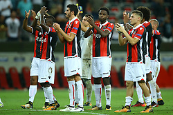 August 22, 2017 - Nice, France - Nice players greeting the supporters after the UEFA Champions League play-off football match between Nice and Napoli at the Allianz Riviera stadium in Nice, southeastern France, on August 22, 2017. (Credit Image: © Matteo Ciambelli/NurPhoto via ZUMA Press)