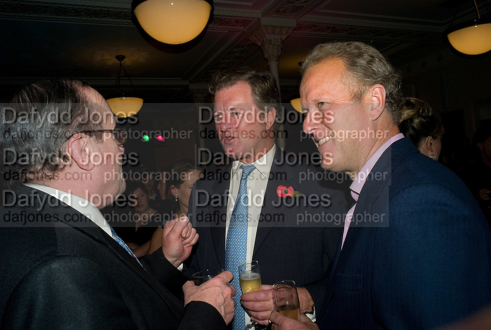THE MARQUESS OF LOTHIAN; LORD BALFOUR; LORD MARLAND OF ODSTOCK. Book launch for the book by Julian Fellowes 'Past Imperfect.' Cadogan Hall. Sloane Terrace. London. 4 November 2008 *** Local Caption *** -DO NOT ARCHIVE -Copyright Photograph by Dafydd Jones. 248 Clapham Rd. London SW9 0PZ. Tel 0207 820 0771. www.dafjones.com