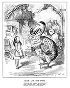 "Alice and the Dodo. ""What else have you got in your pocket?"" ""Only a railway share,"" said Alice sadly. ""Hand it over here,"" said the dodo."